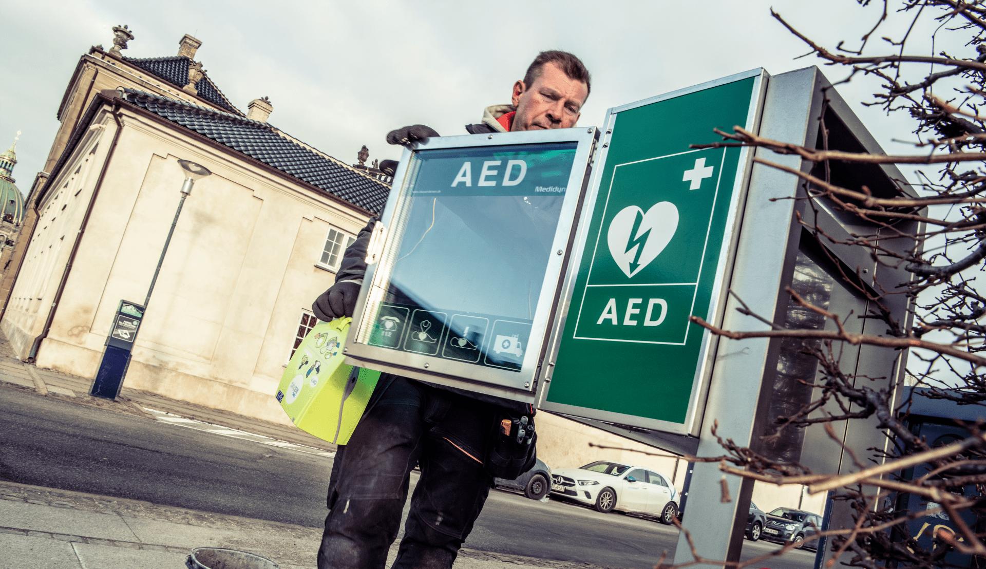 Opsaetning af en hjertestarter i Randers
